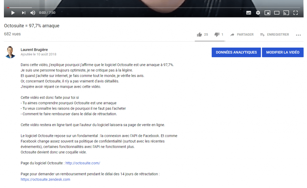 Indexer une vidéo Youtube